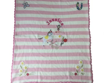 Personalised Powell craft Horse Pony Baby Blanket