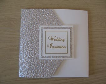 Pebble Pocket fold Invitation