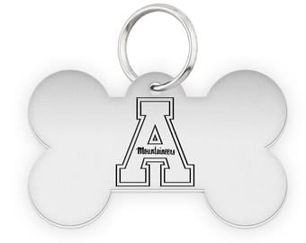 Appalachian State University Mountaineers Dog Tags | Pet Tags | Cat Tags | Necklace | College Pet Tags
