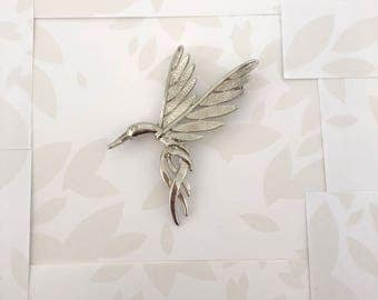Humming Bird Brooch - Humming Bird - Bird Brooch - Birds - Animal Brooch - Silver Brooch - Nature Brooch - Animal Brooch - Gift for Wife