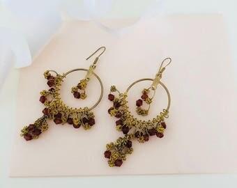 Chandelier Earrings - Drop Earrings - Dangle Earrings - Gold Earrings - BOHO Earrings - Bohemian Earrings - Gypsy Earrings - Hippie - Gift