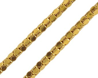 Yellow Gold snake chain