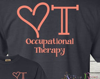 Occupational Therapy OT OTA Customized Monogrammed Personalized Shirt Tee COTA
