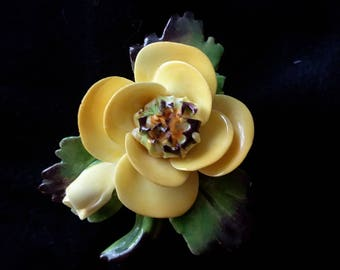 Cara china Staffordshire broach made in England