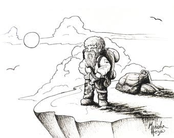 Hiker Dwarf Illustration