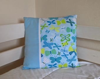 40 * 40 designs Butterfly pillow cover.