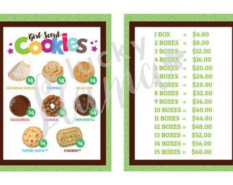 2018 Girl Scout Cookie lanyard in Green - Printable