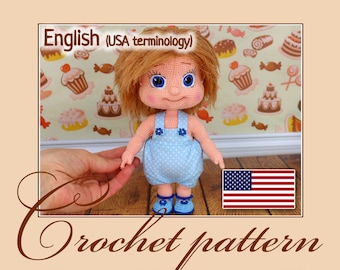 Alyonushka - Amigurumi Crochet Pattern PDF file by Anna Sadovskaya