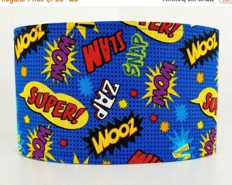 Male Dog Belly band -Dog diaper - Potty training aid - incontinence wrap - Comic Book Super! Pow! Superhero - READY TO SHIP
