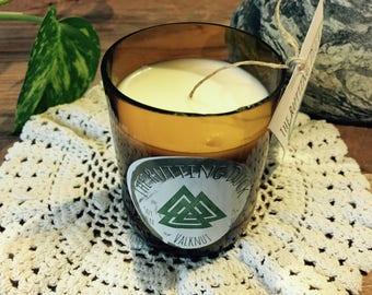 Valknut - Handmade Soy Wax Beer Bottle Candle