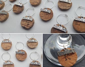 Game of Thrones Wine Glass Charms - Handmade Personalised Cork Charms for GoT themed Weddings, Favours, Dinner & Hen parties, and gifts