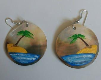Painted Pearl Earrings