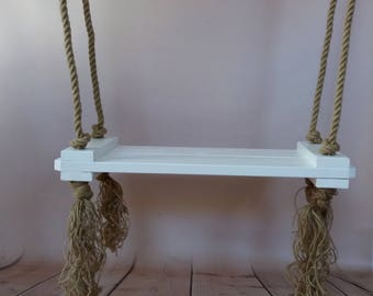 Wooden swing for adult , high school seniors and children photo prop,Wood Rope Swing,  Photograhy Props,Child Swing