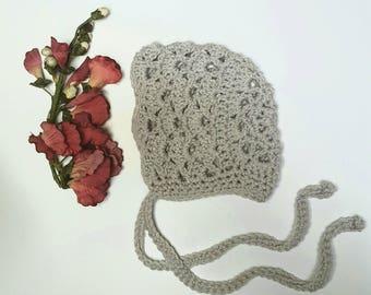 Crochet Bonnet - Baby Bonnet - Spring Bonnet - Baby Girl