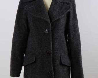 Max and Co. dark grey coat wool and cachemire