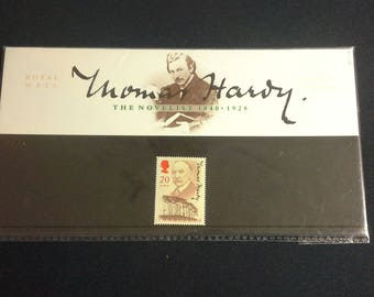 Royal Mail Stamps Thomas Hardy stamp presentation pack 1990