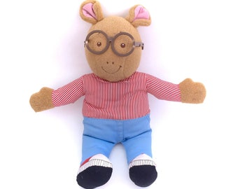 "Vintage 1996 Arthur Playskool Hasbro Talking Plush Doll 18"" Stuffed Aardvark Animal Classic 90s Toys TV Show Original Retro Plushie 13"""