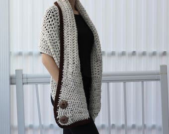 Crochet pattern, Patron crochet, Women crochet pattern, Crochet wrap pattern, Darlee Crochet Wrap, Crochet Poncho, Crochet Scarf, beginner