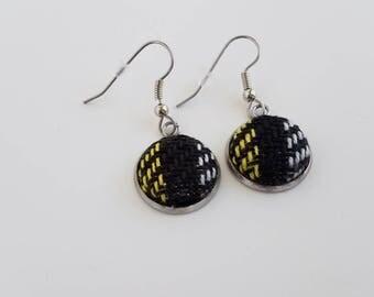 Wrap Scrap Jewelry - Earrings - Pretty Paisley - Truest Friend - Wrap Scrap - Babywearing - Handwoven - Tartan - Plaid - Wizard