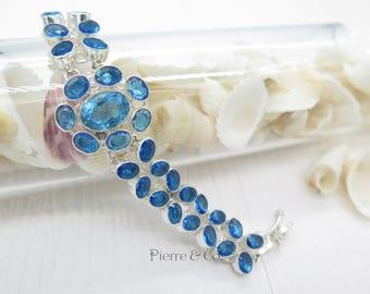 London Blue Topaz Sterling Silver Bracelet