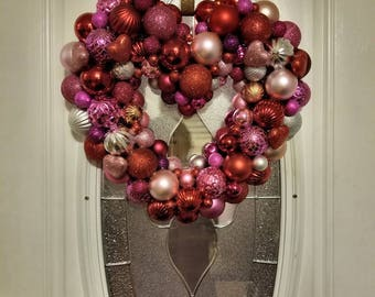 Valentines Day Ornament Wreath