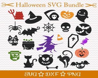 Halloween SVG Bundle,SVG Cut File, Black Cat Svg, Witch Svg, Witch's Hat Svg, Pumpkin Svg, Ghost Svg, Bat Svg