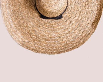 Straw wide Sun hat - Customized, Personalized Summer Hat, any custom line