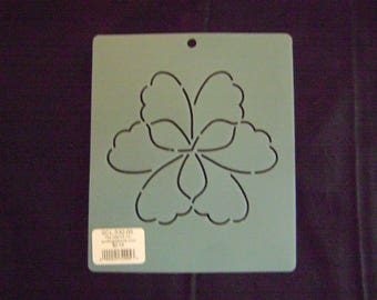 Sashiko Japanese Embroidery Stencil 5 in. Gingko Tri Block Motif Block/Quilting