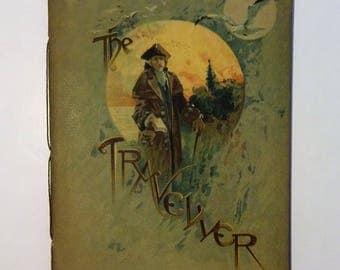 1888 THE TRAVELLER, J. Finnemore Illustrations, Antique Softcover Poem