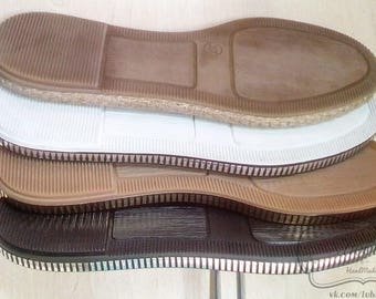 Soles for crocheted shoes. High-quality, durable and flexible material
