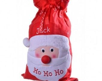 Personalised Christmas Sack, Deluxe Plush Santa, Any Name, Personalized Christmas Gift