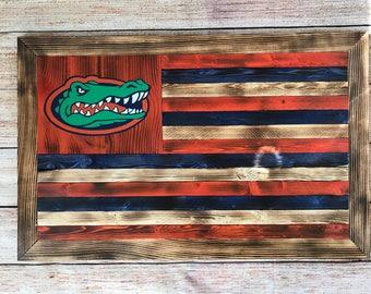 Florida gators wooden flag wall hanging - customizable