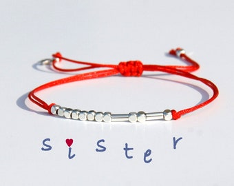 Custom Morse code bracelet Word Message Name Bracelet Personalized Birthday Gift Morse code bracelet