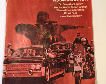 Vintage 1967 Saturday Evening Post featuring the Kennedy Assassination.