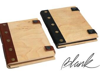 Wooden notebook - Wooden cover - Wooden Journal - Wood notebook - Personalized Journal - Wooden Book