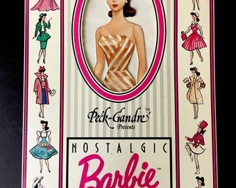 1989 Peck-Gandre Nostalgic Barbie Paper Doll in Original Package-Uncut