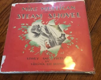 Early printing Mike Mulligan and his Steam Shovel 1939 Virginia Lee Burton Dust Jacket