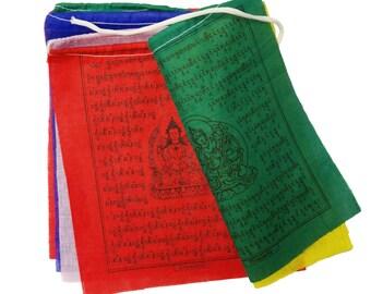 "10 traditional Tibetan prayer flags - Tara prayer flags, Dar-ding, 7.5"" L x 6.5"" W"