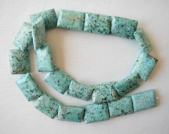 "20mm chrysocolla rectangle beads 16"" strand 3108"