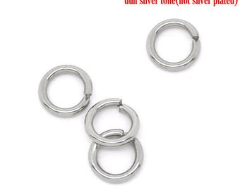 50 jumprings steel stainless 3mm