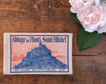 Book of 20 detachable vintage postcards - Le Mont Saint Michel - postcards