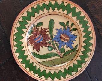 Floral Mexican Folk Art Plate