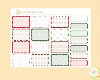 Christmas Planner Stickers, Christmas Half Box Stickers, Christmas Weekly Kit, Erin Condren Life Planner, Happy Planner