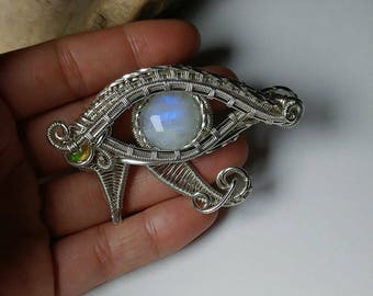 AncientOne - Eye of Horus - Moonstone - Amulet