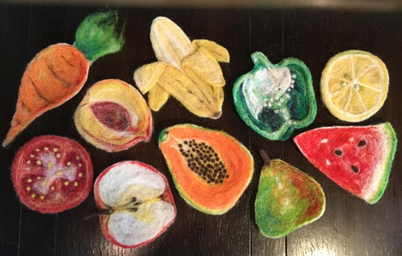 Coasters/Felted Coasters/ Fruit coasters/ custom coasters
