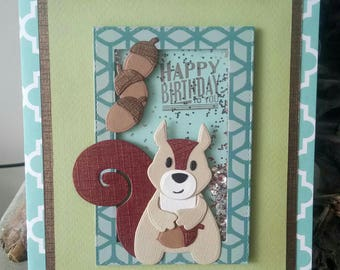 Birthday boy handmade card