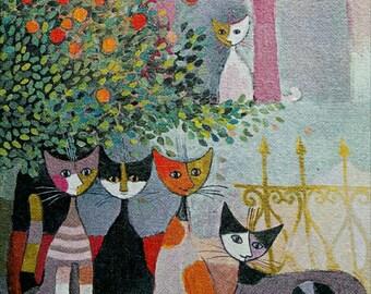 Canvas cats home decor bedroom