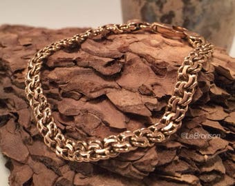 BEAUTIFUL! Previously Cherished Fancy Link Solid 14K GOLD Chain Bracelet