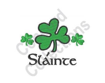 Irish Design - Machine Embroidery Design, Clovers, Shamrocks, Slainte