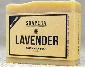 Lavender Goats Milk Soap- made from fresh Australian Goats Milk and nutritious macadamia oil, - Soap Era all natural handmade Soap